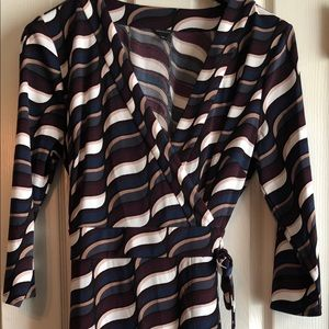 Ann Taylor Wrap Dress Like New 14